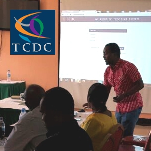 A TCDC facilitator training partner CBOs in Geita.