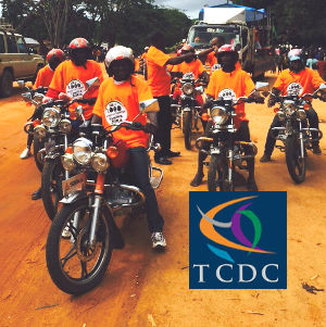 Bodaboda riders proudly sport their new shirts in support of the Lishe Ruvuma campaign!